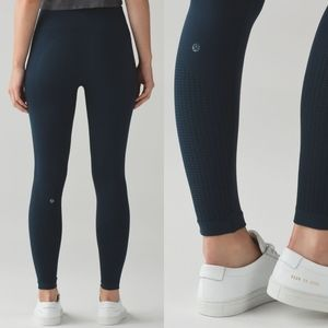 Lululemon Flow & Go Tight Nocturnal Teal sz 8